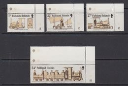Falkland Islands 1985 70th Anniversary Of Camber Railway 4v (corners) ** Mnh (41762A) - Falklandeilanden