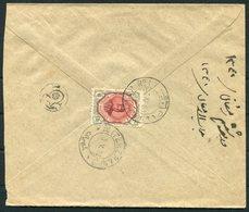 1922 Persia Ahmad Shah 6ch Cover Kachan - Teheran Sandug - Iran