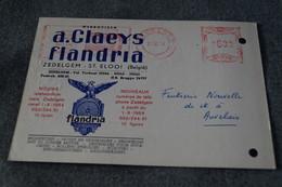 Publibel,Flandria 1968,A.Claeys Zedelgem ,pour Collection - Entiers Postaux