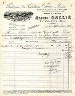 """58.NIEVRE.LA CHARITE.FABRIQUE DE COULEURS,VERNIS & MASTIC.PEINTURE """"LA CAMELINE""""ALEXIS GALLIE. - Chemist's (drugstore) & Perfumery"""