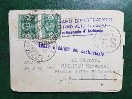 (15139) STORIA POSTALE ITALIA 1946 - 5. 1944-46 Luogotenenza & Umberto II