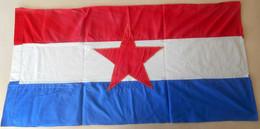 CROATIA Ex YUGOSLAVIA - Original Vintage Communist Flag * LARGE SIZE * Drapeau Flagge Bandiera Kroatien Croatie Croazia - Flags
