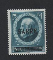 Faux Sarre N° 30 5 M Gomme Sans Charnière - 1920-35 Saargebiet – Abstimmungsgebiet