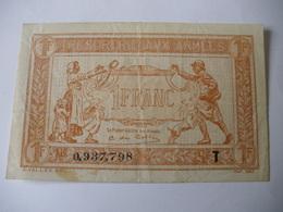 1 F TRESORERIE AUX ARMEES TYPE 1919 SERIE T - Treasury