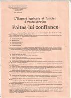 Publicité , L'expert Agricole Et Foncier à Votre Service FAITES-LUI CONFIANCE , Frais Fr 1.65 E - Publicités