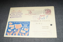 Publibel,Loterie Nationale 1963 ,pour Collection - Stamped Stationery