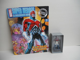 Figurine Marvel Eaglemoss N° 21 Captain Britain FIGURINE VENDU AVEC BOITE ET FASCICULE - Marvel Heroes