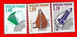 3505  --  FRANCE  Préoblitérés - 1990 - N° 206 + 207 + 203**  Neufs - Préoblitérés