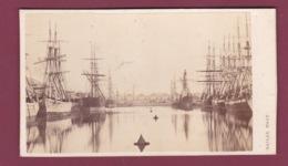 310119 - PHOTO CDV 1865 - 76 LE HAVRE Dock Bassin - Voilier Bateau Marine - Le Havre