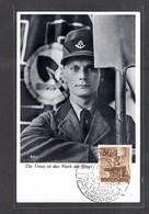 S/w Maximumkarte RAD 1943, Nr. 850, 3 Pfg, RAD-Mann Mit Spaten! - Allemagne