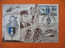 Carte Moto  Gendarmerie Nationale  Premier Jour  1970 - Motorbikes