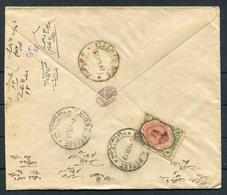 1917 Persia Ahmad Shah 6ch Cover. Chiraz - Isfahan - Iran
