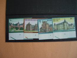 Belgique. 2265/68** Châteaux. Rixensart - Waterloo- Fallais- Gaasbek. Divers Numéros De Planche - Châteaux