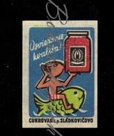 D153 CZECHOSLOVAKIA 1959 Cukrovar Sladkovicovo Canned Preserves - Sugar Refinery Die Konserven  Zuckerraffinery - Zündholzschachteletiketten