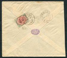 1921 Persia Ahmad Shah 6ch Cover. Senneh - Hamadan - Iran