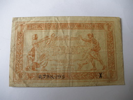 1 F TRESORERIE AUX ARMEES TYPE 1919 SERIE X - Treasury