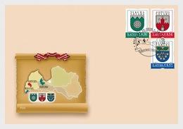 Letland / Latvia - Postfris / MNH - FDC Wapenschilden 2019 - Letland