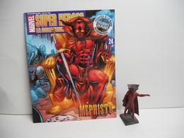 Figurine Eaglemoss Marvel En Plomb Mephisto N° 24 Avec Fascicule - Marvel Heroes