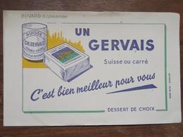 """Buvard """" UN GERVAIS"""" Suisse Ou Carré... - Produits Laitiers"""