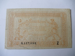 1 F TRESORERIE AUX ARMEES TYPE 1919 SERIE Z - Treasury