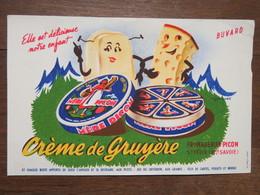 """Buvard """" CREMERIE GRUYERE"""", Fromagerie PICON, Saint-Félix (Haute-Savoie) - Produits Laitiers"""