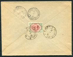 1918 Persia Ahmad Shah 6ch Cover. Recht - Teheran - Isfahan - Iran