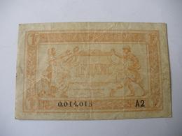 1 F TRESORERIE AUX ARMEES TYPE 1919 SERIE A2 - Treasury