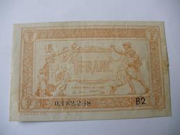 1 F TRESORERIE AUX ARMEES TYPE 1919 SERIE B2 - Trésor