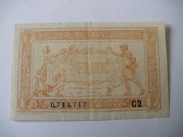 1 F TRESORERIE AUX ARMEES TYPE 1919 SERIE C2 - Treasury