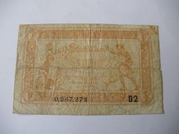 1 F TRESORERIE AUX ARMEES TYPE 1919 SERIE D2 - Tesoro