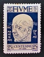 EFFIGIE DE GABRIELE D'ANNUZIO 1920 - NEUF * - YT 100 - MI 102 - Fiume