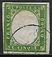 SARDAIGNE    -   1855  .  Y&T N° 10a Oblitéré - Sardaigne