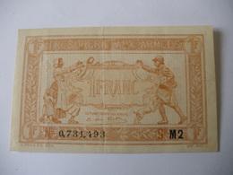 1 F TRESORERIE AUX ARMEES TYPE 1919 SERIE M2 - Treasury