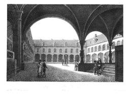 La Cour Du Palais à Liège En 1825 - Prints & Engravings