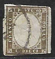 SARDAIGNE    -   1855  .  Y&T N° 11a Oblitéré - Sardaigne