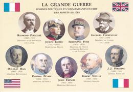 LA GRANDE GUERRE - HOMMES POLITIQUES ET COMMANDANTS EN CHEFS DES ARMEES ALLIEES - Personaggi Storici