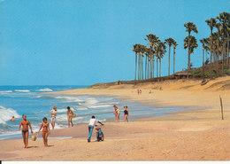 Gambia Postcard Sent To Denmark 3-4-1988 (Beach By Hotel Fajara) - Gambia