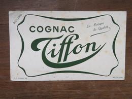 Buvard : Cognac TIFFON, Vert - Liqueur & Bière