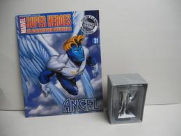 Marvel En Plomb N° 31 Angel Bleu FIGURINE VENDU AVEC FASCICULE ET  BOITE - Marvel Heroes