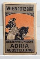 WIEN 1913 OESTERREICHISCHE ADRIA AUSSTELLUNG   ERINNOFILO CHIUDILETTERA  ETICHETTA PUBBLICITARIA - Francobolli