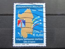 *ITALIA* USATI 2006 - 50° POLIGONO SALTO DI QUIRRA AEREON MILITARE - SASSONE 2916 - LUSSO/FIOR DI STAMPA - 6. 1946-.. Repubblica