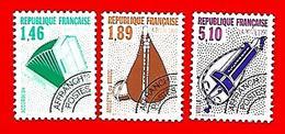 3516 --  FRANCE  Préoblitérés - 1990 -  N° 205 + 207 + 209**  Neufs - Préoblitérés