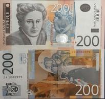 Serbia 200 Dinara 2005 Unc Za Replacement - Serbie
