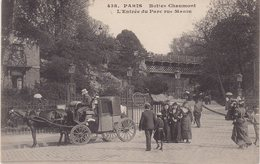 PARIS XIX : Buttes Chaumont ; L'entrée Du Parc Rue Manin . - Arrondissement: 19