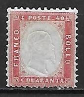 ITALIE    -   1862 .  Y&T N° 4 (*) . - 1861-78 Victor Emmanuel II.