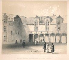 L'ancien Palais De Liège En 1845 - Estampes & Gravures