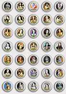 35 X The Munsters LILY Movie Film Fan ART BADGE BUTTON PIN SET 3 (1inch/25mm Diameter) - Films