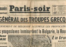PARIS-SOIR, N° 290, Mardi 8 Avril 1941, Armée Allemande, Troupes Grecques, Bulgarie, Roumanie, Hongrie, Montparnasse.... - Other