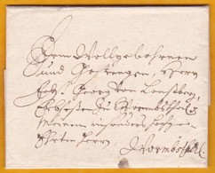 1704 - Niedersachsen - Brief Von Hannover Aus Wormstal ?    1704 - Letter From Hanover, Saxony To Wormstahl ? - Hanovre