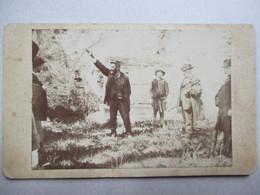Photographie CDV - Homme - Harangue Politique ?  -  A Identifier - Dos Muet  TBE - Foto